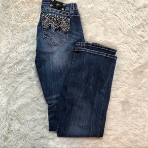 Miss Me Bling Pocket Bootcut Jeans 28